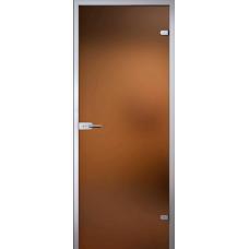 Межкомнатная дверь - Light (Лайт), стекло матовое бронза