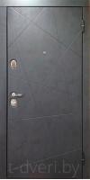 Металлическая дверь серии T-doors  модель Меридиан четырехуступчатая