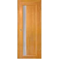 Дверь межкомнатная из массива сосны модель Вега 6 ЧО светлый орех