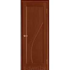 Дверь межкомнатная из массива ольхи Дива ДГ, бренди