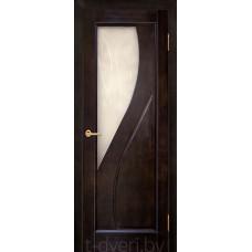 Дверь межкомнатная из массива ольхи Дива ДО, венге