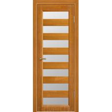 Дверь межкомнатная из массива ольхи Премьер плюс, медовый орех, остекленная