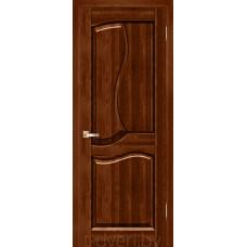 Дверь межкомнатная из массива ольхи Верона ДГ, бренди
