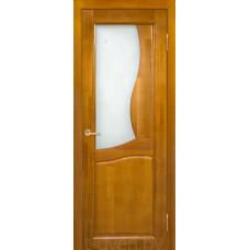 Дверь межкомнатная из массива ольхи Верона ДО, медовый орех