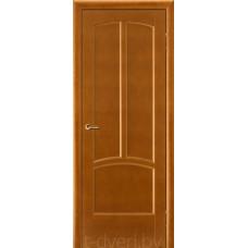 Дверь межкомнатная из массива ольхи Виола ДГ, медовый орех