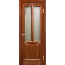 Дверь межкомнатная из массива ольхи Виола ДО, бренди