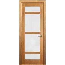 Дверь межкомнатная из массива сосны модель 2 ДО стекло кризет