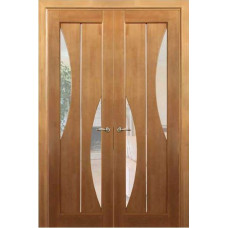 Дверь межкомнатная из массива сосны модель 5 ЧО стекло кризет