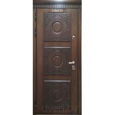 Стальная линия дверей г  Могилев модель Триест со сменными 3D панелями четырехуступчатая