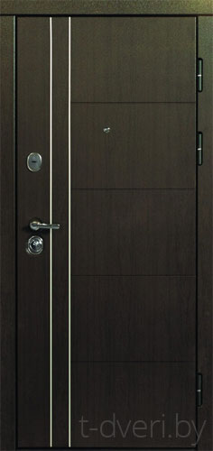 Входная металлическая дверь Дверной Континент модель Турин светлый дуб