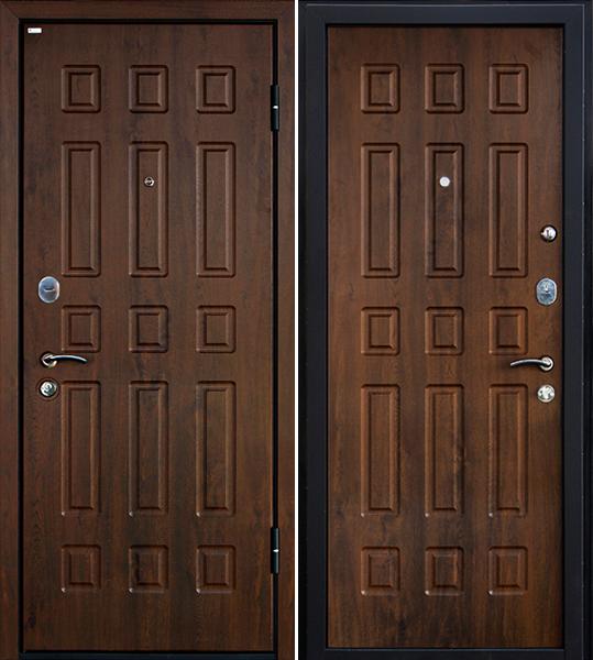 дверь металлическая входная орех