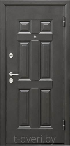 Дверь металлическая Промет Виктория царга (беленый дуб)