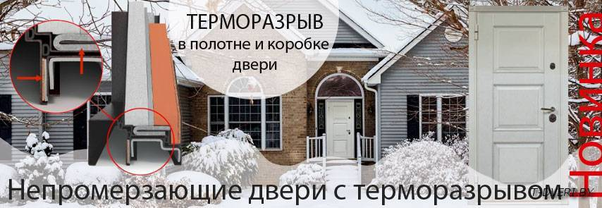 Непромерзающая входная дверь с терморазрывом