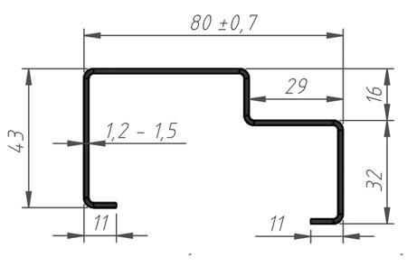 профиль п 5 для металлической двери