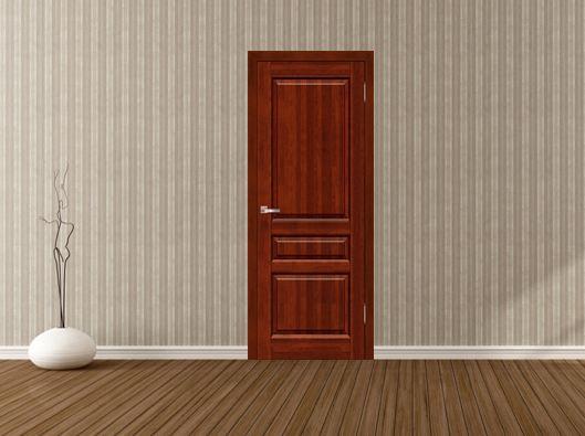 Межкомнатная дверь из массива ольхи в интерьере