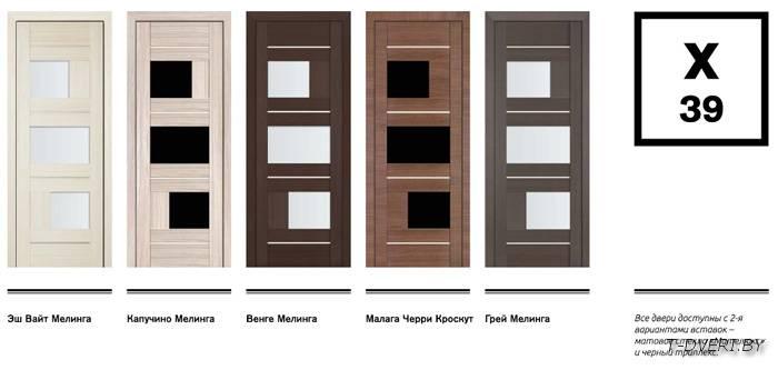 Двери межкомнатные экошпон 39Х 'ПРОФИЛЬ ДОРС' (стекло матовое)