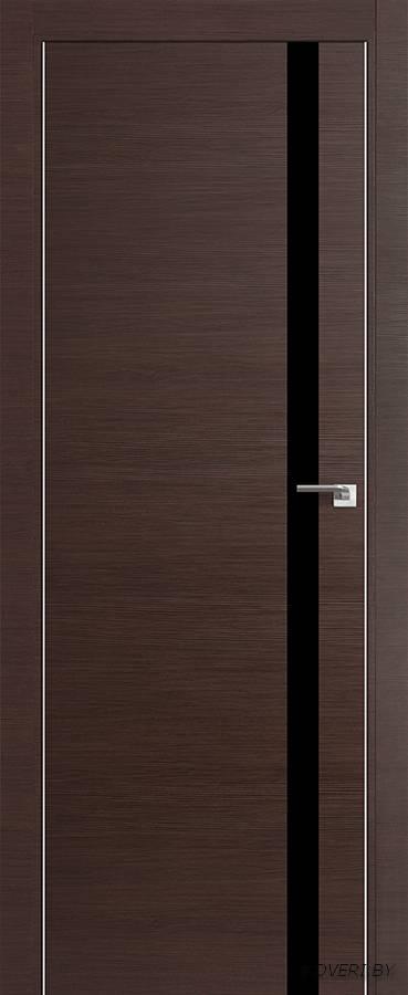 Межкомнатная дверь - Profil Doors 6Z, венге кроскут, глухая