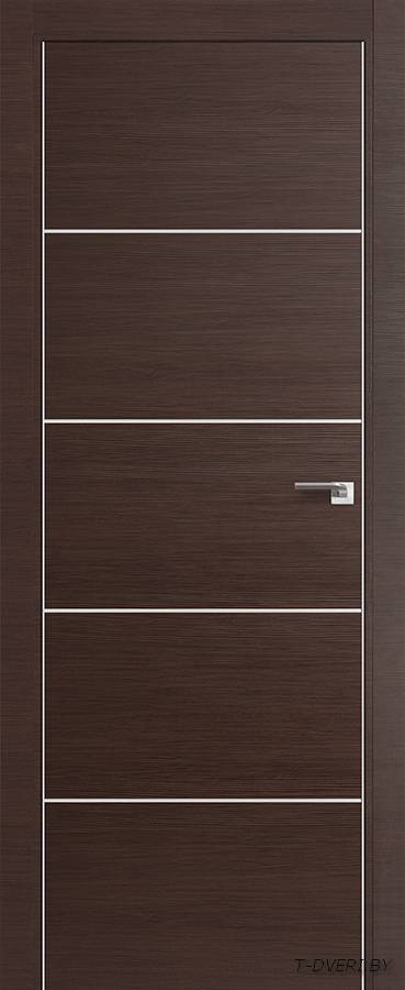 Межкомнатная дверь - Profil Doors 7Z, венге кроскут, глухая
