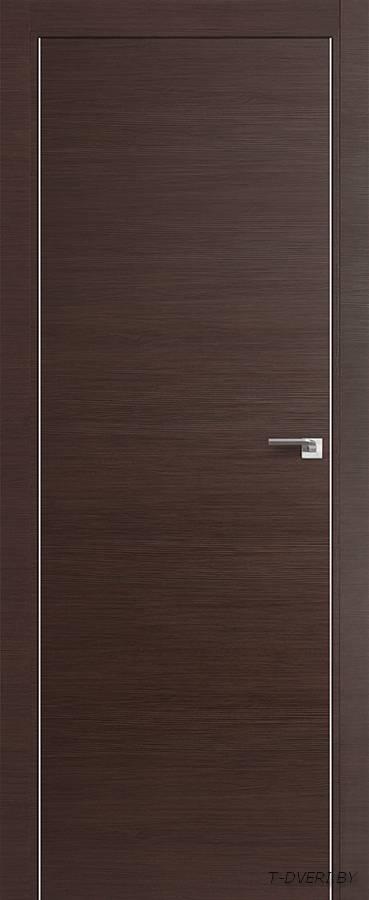 Межкомнатная дверь - Profil Doors 1Z, венге кроскут, глухая