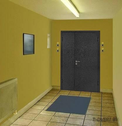 железная дверь входная в общий тамбур цена